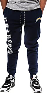 Ultra Game NFL Los Angeles Chargers Men's Active Basic Fleece Jogger Sweatpants, Team Color, Large