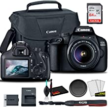 $349 » Canon EOS 4000D DSLR Camera with 18-55mm Lens + Canon EOS Bag + Sandisk Ultra 64GB Card + Cleaning Set and More (International Model)