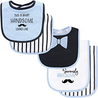 Hudson Baby baby-girls Bib and Burp Cloth Set Bandana