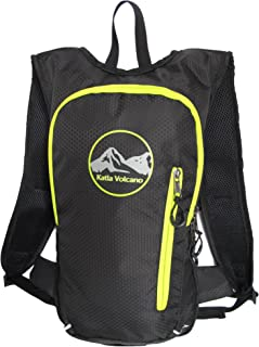 Katla Volcano Hydration Backpack with 2L PBA Free Bladder, Hydration Pack by Non Leaking, Large and Small Compartments, Adjustable Straps, Sweat Resistant