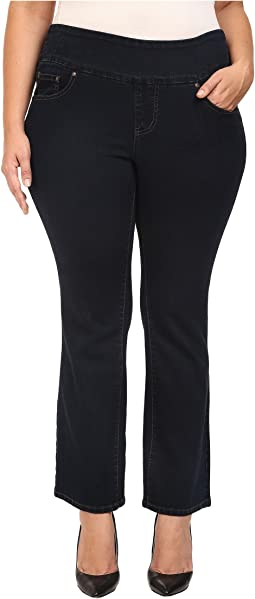 Jag Jeans Plus Size - Plus Size Petite Paley Pull-On Boot in After Midnight Comfort Denim