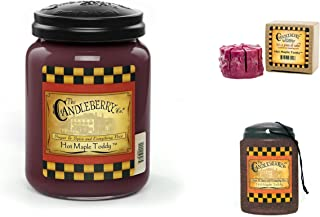 Candleberry Hot Maple Toddy Sampler - 1 Jar Candle, 1 Wax Tart and 1 Car Air Freshener