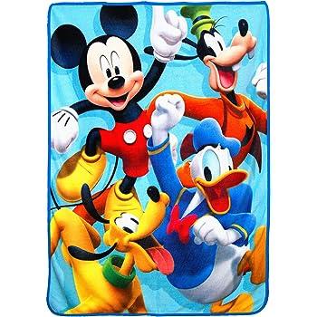 Donald Duck 465048286630 and Pluto Fleece Throw Disney Mickey Mouse