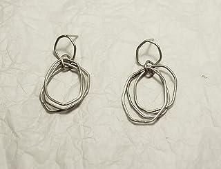 Orecchini a cerchio, cerchi con movimento, cerchi in argento, orecchini in argento 925, orecchini con movimento, orecchini...