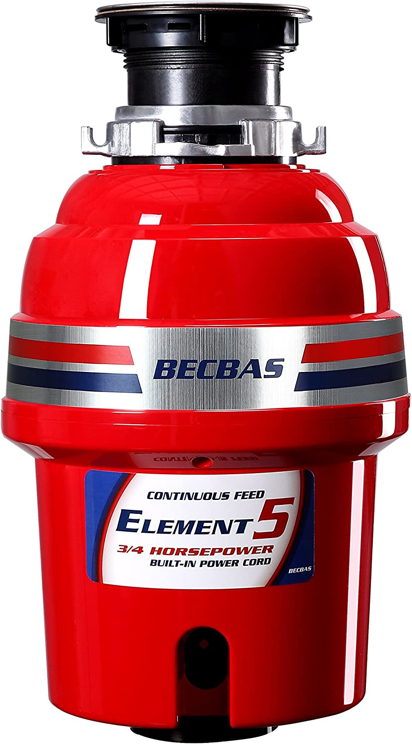 BECBAS ELEMENT 5 Garbage Disposal,3 Household New Excellent Shipping Free RPM 4HP 2600