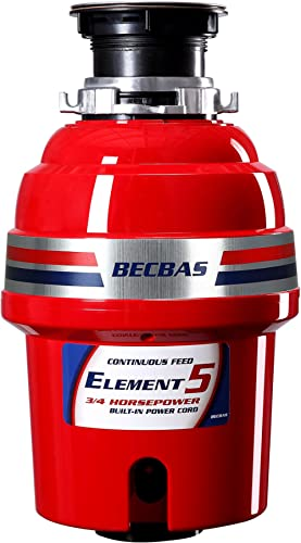 BECBAS ELEMENT 5 Garbage Disposal,3/4HP 2600 RPM Household Food Waste Disposer, With Power Cord