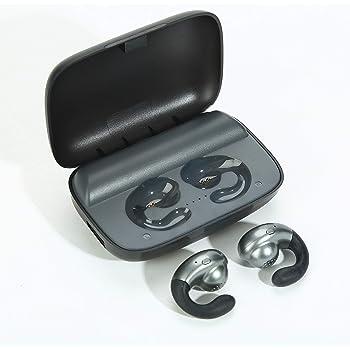 Bluetooth Earphone Earbuds Mini Wireless Headphones Built-in Mic, True Wireless Bluetooth 5.0 in-Ear Headsets, IPX7 Waterproof Sports Headphone with Charging Box (Black)