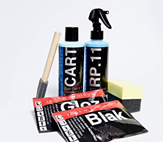 CART & RV KIT : : Golf Carts and RV Renewal - SiO2 & TiO2 Ceramic Infused, Polymer Paint Sealer w/ Advanced Abrasives - Annual Finish, 8oz CART + 8oz RP.11 + GLOZ Samples