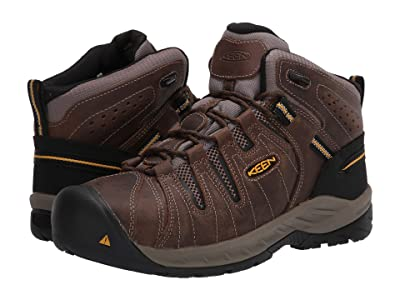 Keen Utility Flint II Mid Steel Toe (Cascade Brown/Golden Rod) Men