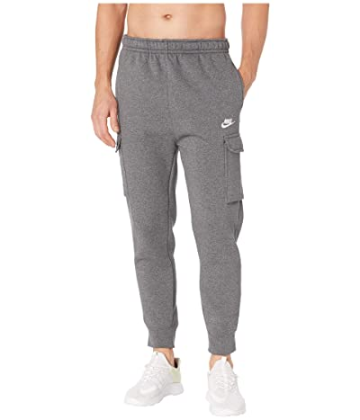 Nike NSW Club Pants Cargo (Charcoal Heather/Anthracite/White) Men
