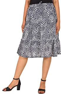 COTTON BREEZE Women Midi Skirt (FP567_Blue_Free Size)