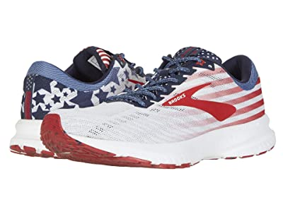 Brooks Launch 6 (White/Blue/Red) Men