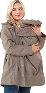 Sweet Mommy Maternity Baby Carrier Babywearing Multifunctional Water-Repellent Mod's Coat Parka with Removable Panel