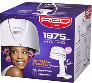Kiss Red Pro 1875w Ceramic Tourmaline Hood Dryer Original, 1 Ea, 1count