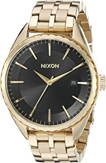 Nixon Women's A9342042 Minx Analog Display Swiss Quartz Gold-Tone Watch