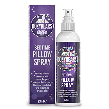 DOZYBEARS The Ultimate Bedtime Pillow Spray 250ml | Calming and Relaxing Pillow Mist with Soothing scents of Lavender, Lemon Balm, Chamomile, Sandalwood and Bergamot