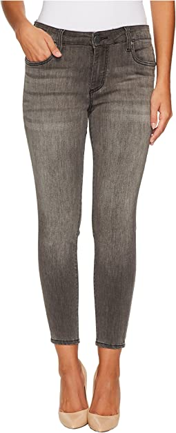 Petite Donna High-Rise Ankle Skinny in Meritorious w/ Grey Base Wash