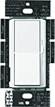 Lutron Diva Fan Control and Light Switch for LEDs, CFLs, Incandescent and Halogen Bulbs, DVFSQ-LF-WH, White