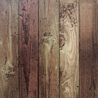 Vintage Wood Wallpaper 16.4'x1.47' Self Adhesive Wallpaper Wood Wallpaper Peel and Stick Wallpaper Removable Wallpaper Stick and Peel Wood Wall Paper Distressed Wood Plank Faux Vinyl Film Roll