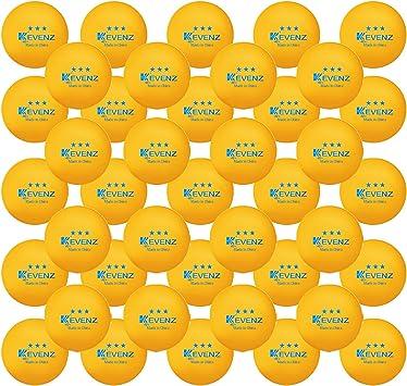 KEVENZ 60-Pack 3-Star 40+ Orange Table Tennis Balls,Advanced Ping Pong Ball