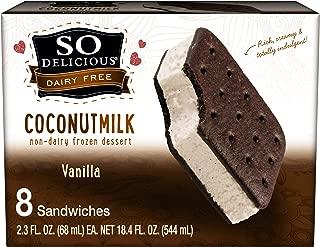So Delicious Dairy Free Coconutmilk Vanilla Frozen Dessert Sandwiches, 8 count