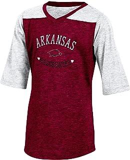 NCAA Texas Half sleeve Tunic Tee wit L-10/12 red