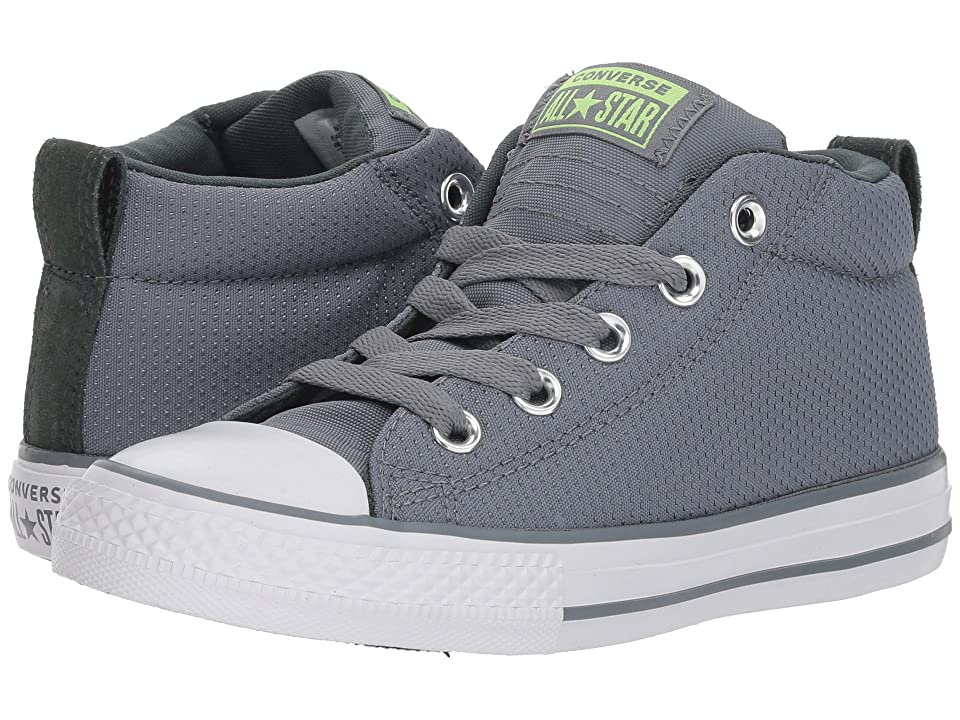 Converse Kids Chuck Taylor All Star Street Mid (Little Kid/Big Kid) (Cool Grey/Vintage Green/White) Boy