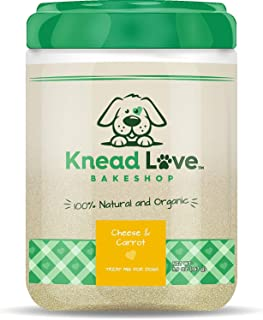 Knead Love Dog Treat Mix - DIY, Home-Baked, Organic, Non-GMO, Human-Grade, Natural Biscuits - No Added Sugar, Salt, Preservatives, Colors, or Flavors - One Jar (24-48 Dog Treats)