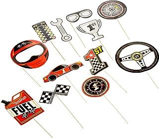 RACE CAR PHOTO STICK PROPS - Apparel Accessories - 12 Pieces