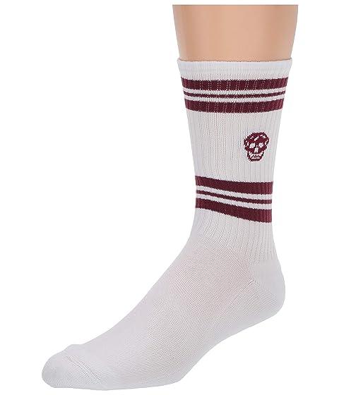 Alexander McQueen Stripe Skull Sport Socks