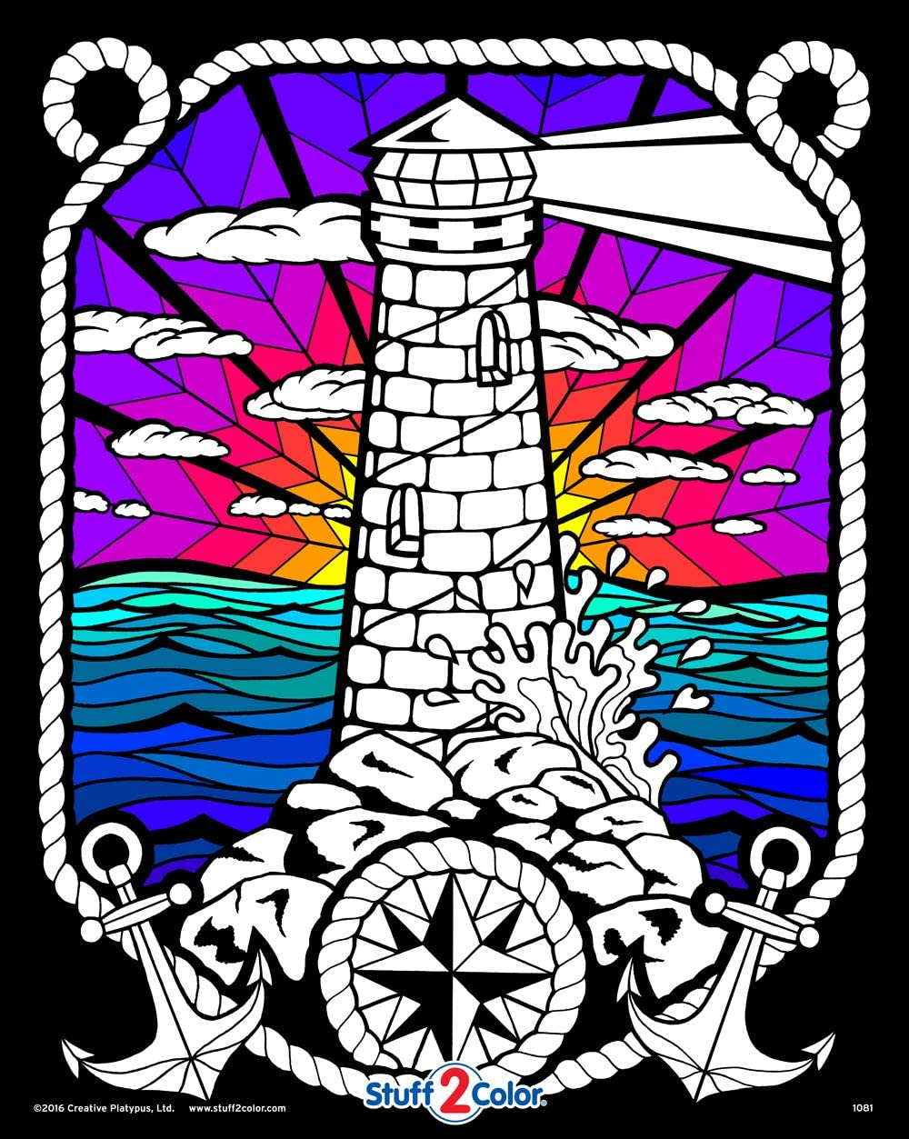 Lighthouse Sacramento Mall - Fuzzy Velvet Detailed Coloring High quality Poster 16x20