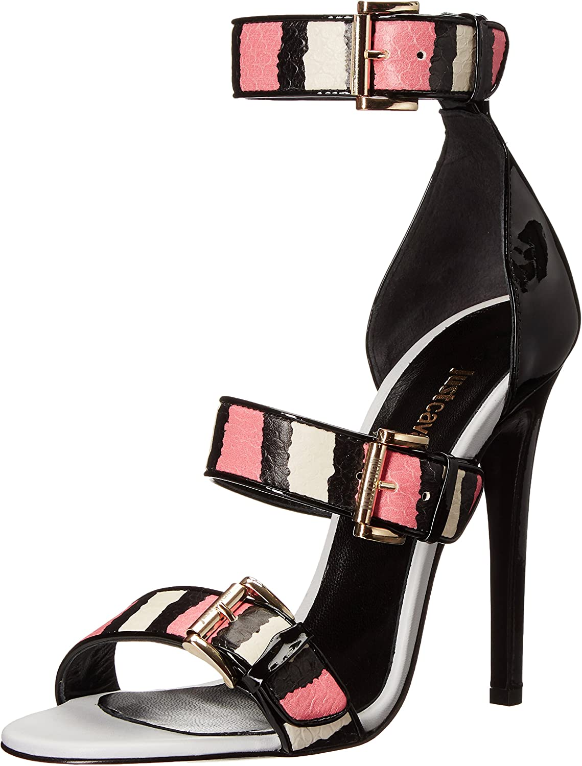 Just Cavalli Womens Buckled Strappy Dress Sandal