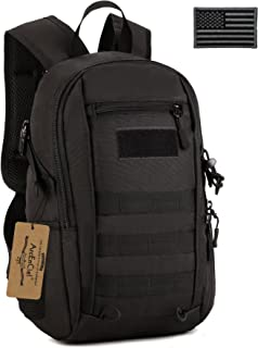 ArcEnCiel Small Tactical Backpack Military MOLLE Daypack Gear Assault Pack School Camping Bag