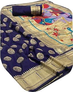 بلوزة نسائية هندية بتصميم أرجواني ناعم من الكتان الحرير باثاني ساري ملابس تقليدية تقليدية ساري ساري ساري 6223