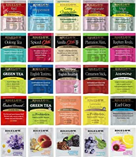 Tea Bags Sampler Assortment Variety Pack Gift Box - 49 Count - Perfect Variety - English Breakfast, Green, Black, Herbal, ...