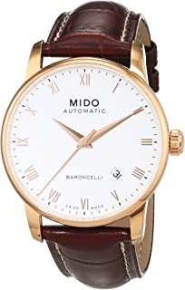 MIDO MEN'S BARONCELLI II 46.5MM LEATHER BAND AUTOMATIC WATCH M8600.2.26.8