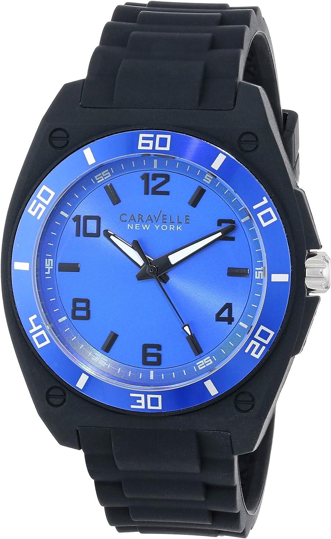 Caravelle by Bulova 45A116 - Reloj para Hombres Color Azul
