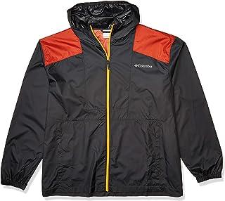 Columbia mens Flashback Jacket, Water Resistant Windbreaker, Black, X-Large US