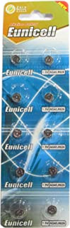 10 Eunicell AG4 / LR66 / 177/377 / LR626 Button Cell Battery Long Shelf Life 0% Mercury (Expire Date Marked)