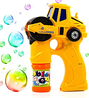 Toysery Engineering Bubble Blaster Gun for Kids, Automatic Bubble Shooter Gun Comes with Light and Music, Summer Indoor Outdoor Fun Bubble Gun Blower Machine Kit, Perfect for Toddlers Boys and Girls