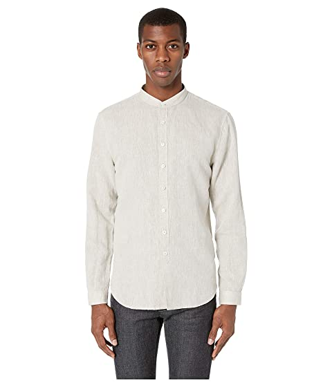 John Varvatos Collection Classic Fit Tiched Band Collar Shirt W591V1