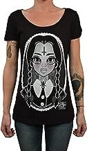 Women's Wednesday by Miss Cherry Martini Addams Family Girl Tattoo Art T-Shirt