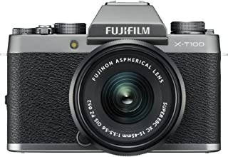 Fujifilm X-T100 Mirrorless Digital Camera w/XC15-45mm F/3.5-5.6 OIS PZ Lens, Dark Silver
