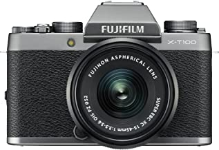 Fujifilm X-T100 Mirrorless Digital Camera w/XC15-45mmF3.5-5.6 OIS PZ Lens - Dark Silver