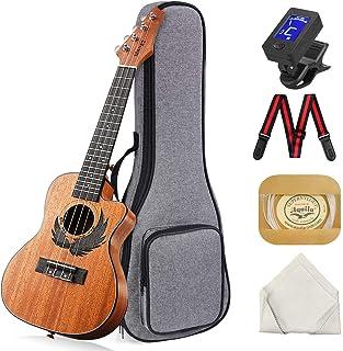 Concert Ukulele Manao 23 Inch Eagle Cutaway Electric Guitar Headstock Ukelele Beginners Kit Professional Ukele Instrument ...