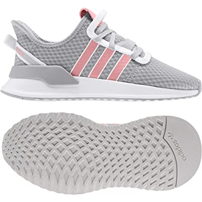 adidas Originals Kids U_Path Run J (Big Kid) (Grey/Glory Pink/White) Girls Shoes