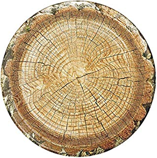Cut Timber Party Plates (10