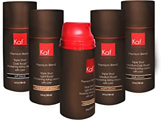 Mens Hair Gel That Targets Gray Hair, All Natural Cream NO DYE ADDED, works in seconds (Light Brown)