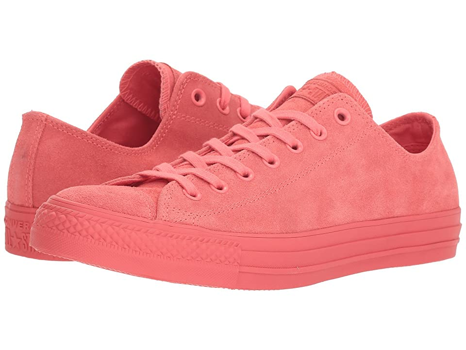Converse Chuck Taylor(r) All Star(r) Ox Mono Suede (Punch Coral) Athletic Shoes
