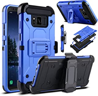 Venoro Galaxy S8 Active Case, Heavy Duty Armor Shockproof Rugged Protection Case Cover with Belt Swivel Clip and Kickstand for Samsung Galaxy S8 Active 5.8